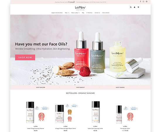 Improved User Experience of the Shopify Website