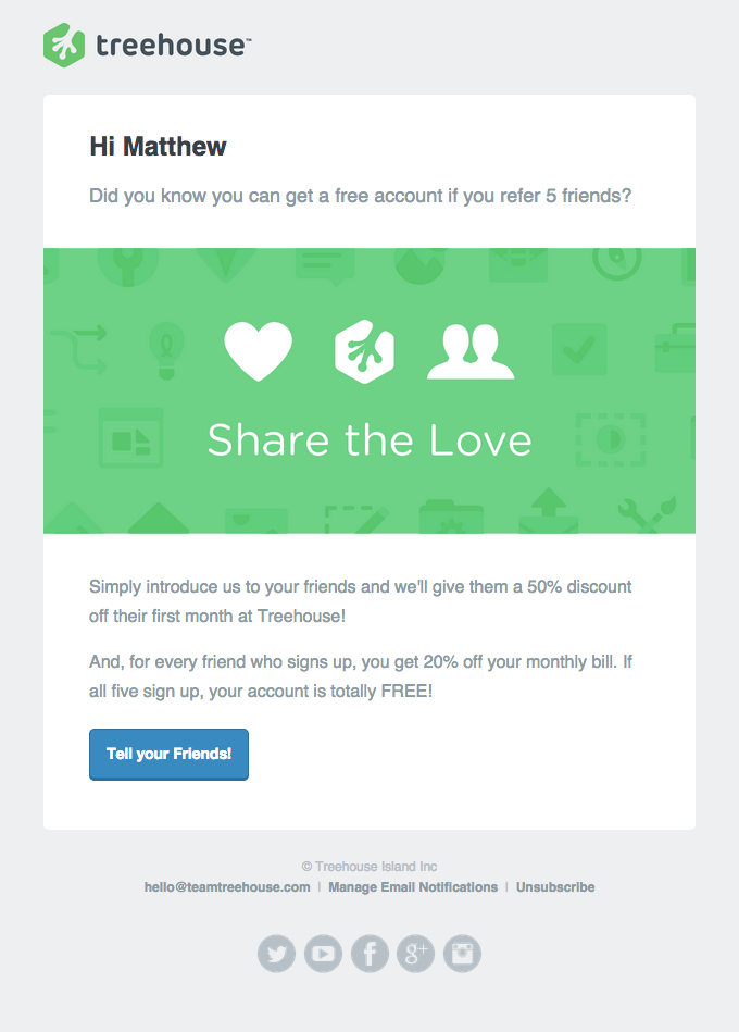 Ecommerce Email marketing - Referral Program Emails