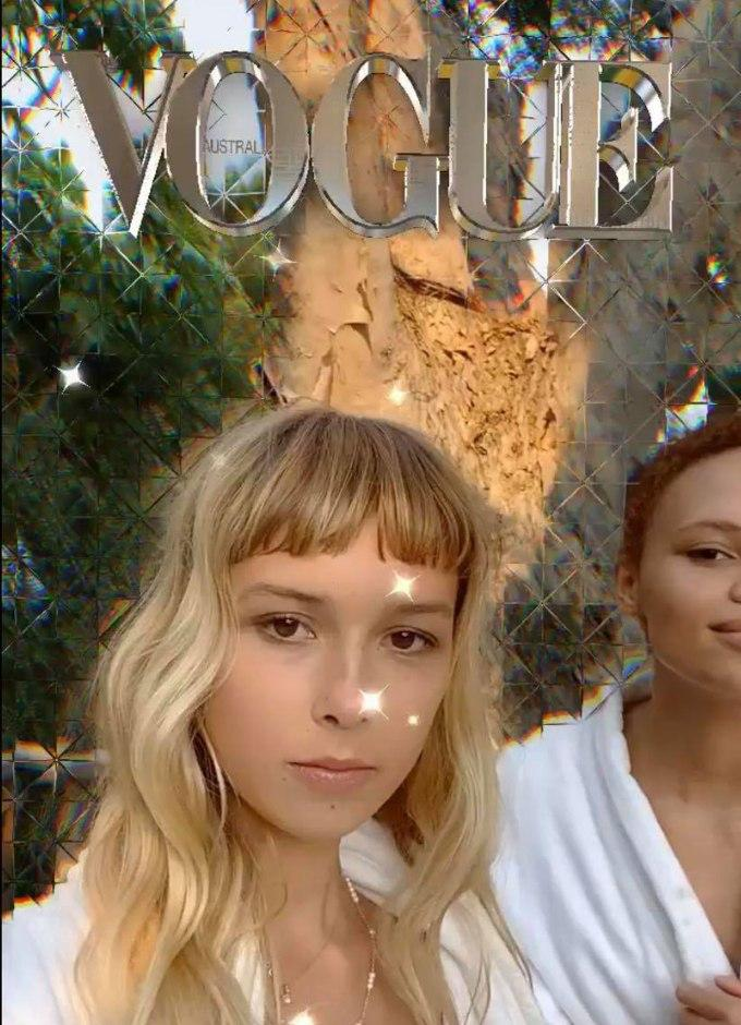 Social Media Trends 2021 - Evolution of augmented reality - Vogue Diamond Filter