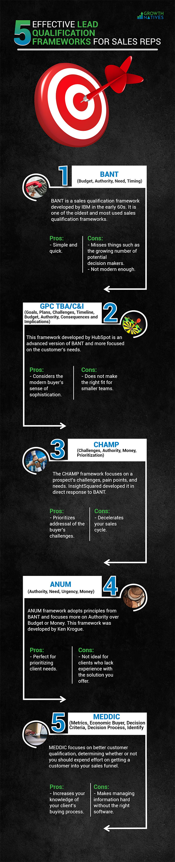 Infographic - Top 5 Effective Lead Qualification Frameworks