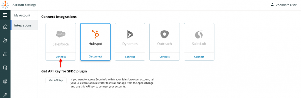 ZoomInfo Salesforce Integration steps - Connect Integrations